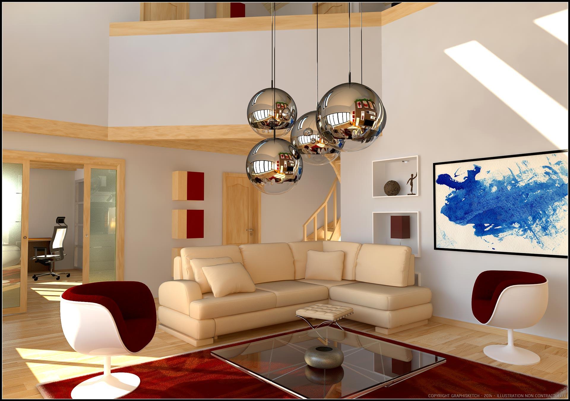 Architecture intérieur sur du pays Gex aux pays de savoie